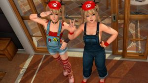 Marie Rose Twins Mario Cosplay by Deluwyrn