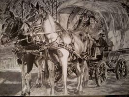 My newest Picture drawn with coal by mchofmann