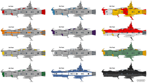 EDF/Earth Federation Fleets by charyui