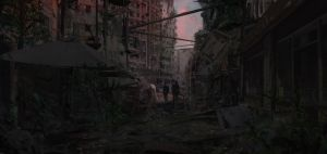Enclave ( poor areas ) street Patrol by SolarSouth
