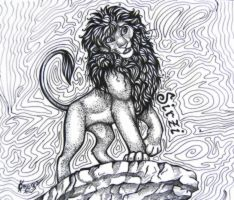 Sirzi the lion by OmegaLioness