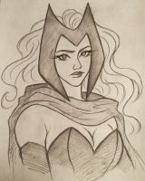 Scarlet Witch sketch by 7Lisa