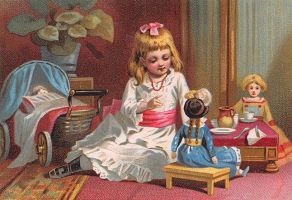 Victorian Advertising - Playing With Dolls by Yesterdays-Paper