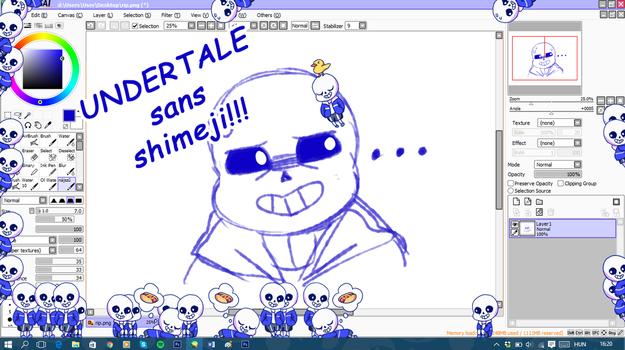 Undertale - Sans shimeji [UPDATED] by Mirachaan