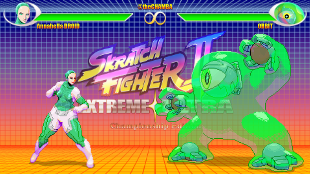 SkratchFighter - A.Droid vs Orbit by theCHAMBA