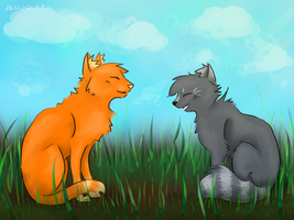 Firestar and Cinderpelt - Friendship by Alouncara