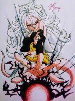 Majin Android 21 #2 by OmegaWolf8999