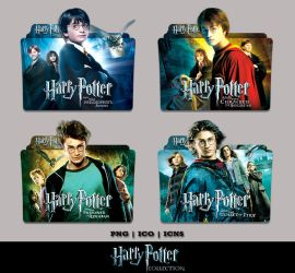 Harry Potter 1 - 4 Collection Folder Icon Pack 1 by Bl4CKSL4YER