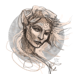 Lavellan sketch by Mar-ER