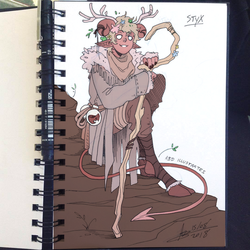 DnD Character Sketch - STYX by ABD-illustrates