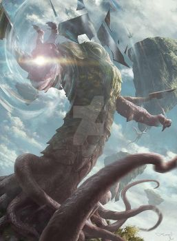 Kozilek The Great Distortion by Aleksi--Briclot