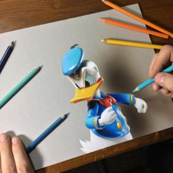 Drawing Donald Duck by marcellobarenghi