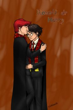 Harry and Ron :O by BerenicePotter
