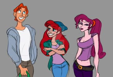 Disney red head trio by Silk-Ward