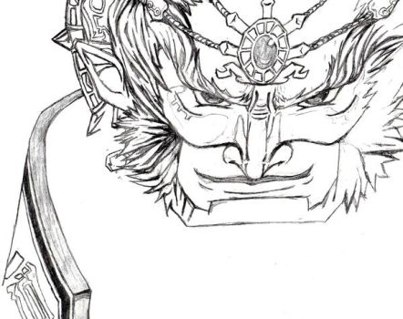 Unfinished Ganondorf outline by danielrules01