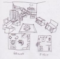 Layout Of The Building Interior by WhippetWild