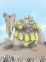 Pokemon Art League  Broken Knee Shiny Rhyperior