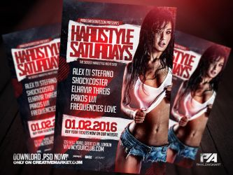 Hardstyle Saturdays Event Flyer Template by pawlowskiart
