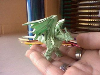 Origami Artist Galen 32 30 Divine Dragon Bahamut By Takato14