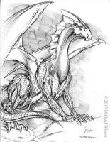 Dragon Silver 01 Small by mikewilsonart