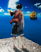 Luffy in new world by LuhaBiha