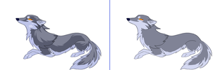 Wolf, shaded and unshaded. by NoviLunar
