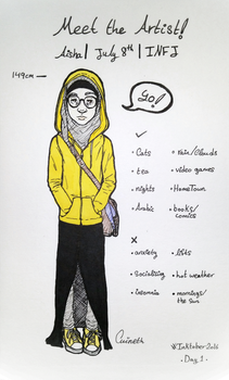 Inktober [Day 1]   Meet the Artist by Cuineth