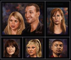 Dr Who Portraits by Leyna-art