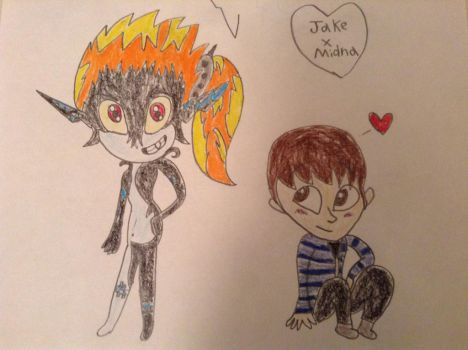 Jake X Midna (Chibi) by Jakered3