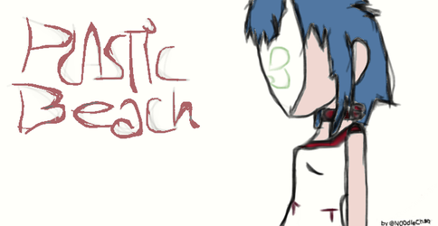 Noodle Plastic Beach by N00dleChan