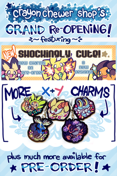 CCshop Grand Re-Opening! by crayon-chewer