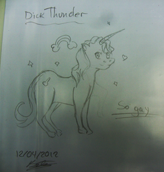 Dick Thunder: The gay unicorn by LuvCrazy69