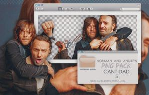 Andrew Lincoln and Norman Reedus Png Pack by valeryscolors