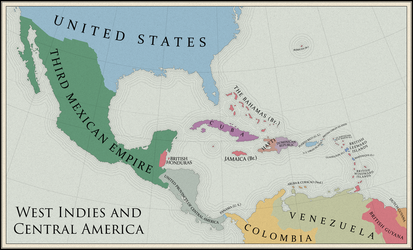 Map of the West Indies and Central America by mihaly-vadorgrafett