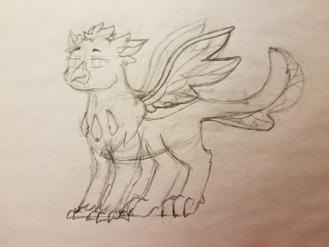 First OC of 2018 - Changeling Griffon by Rabies-the-Squirrel
