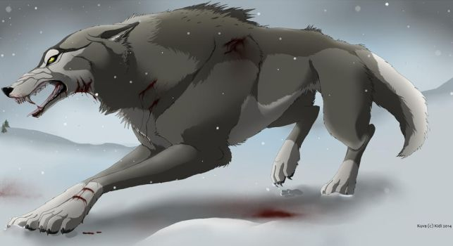 My blood in the snow by planKidi