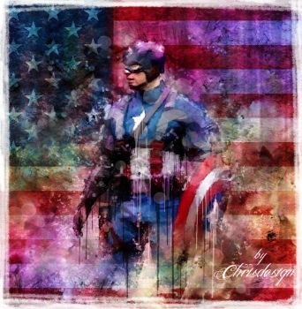 Captain America Grunge by Chrisdesign