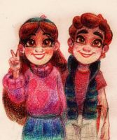 Dipper and Mabel Pines by WhiteLily24