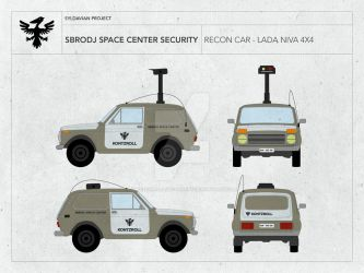 SBRODJ SPACE CENTER SECURITY - RECON CAR LADA NIVA by droneaircraftconcept