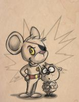 Danger Mouse Sketch by MrRevenge