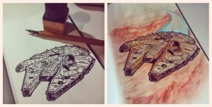 Millenium Falcon by RafaConte