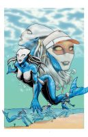 Dolphin Girl Coloured by madscuzzy