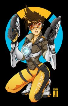 Tracer from Overwatch by artofJEPROX