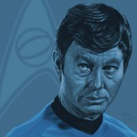 Star Trek TOS portrait series 05 - McCoy - Kelley by jadamfox