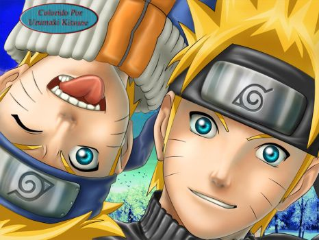 Naruto and Naruto by uzumakitsune