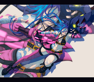 League of Legends - Jinx by Nagadih