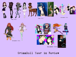 Year in review by grimm-doll
