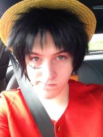 Monkey D Luffy Cosplay by TheManOfManyFaces