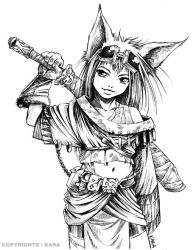 Neko warrior by Karafactory