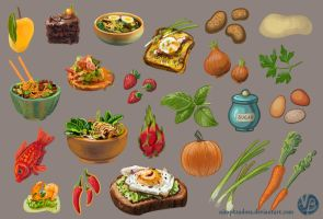 Food items by Nimphradora